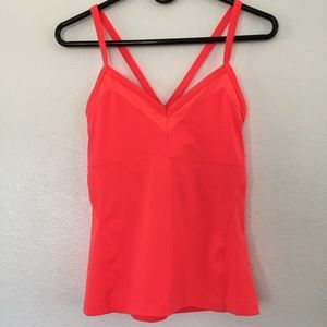 Alo Becka Neon Orange Tank Top Size S